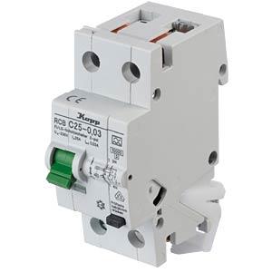 RCD/circuit breaker - 30mA, 1+N, C 25 KOPP 742516016