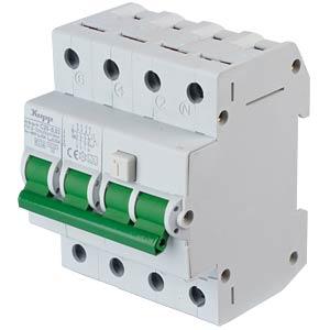 RCD/circuit breaker - 30mA, 3+N, C 25 KOPP 742547018