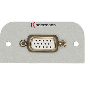 Video PC connector 15-pin HD socket: KMAS 101 KINDERMANN 7441-401