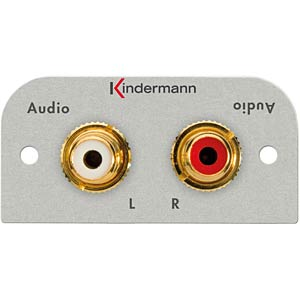 Audio-Anschluss, 2 x Cinchbuchsen: KMAS 110 KINDERMANN 7441-410