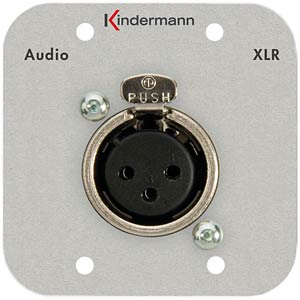 Audio-Anschluss, Neutrik-Buchse 3-pol. Doppelbl KINDERMANN 7441-412