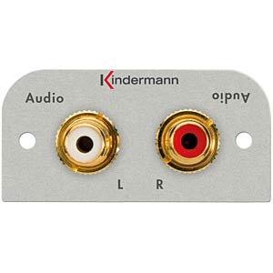 2 Cinchbuchsen (Audio R/L) KINDERMANN 7441-510