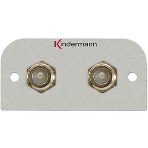 2-F-Buchsen-Anschlussblende Genderchanger KINDERMANN 7441-541