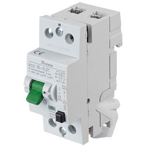 Fehlerstromschutz-Schalter, Typ A, 16 A, 10 mA KOPP 751626012