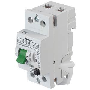 Fehlerstromschutz-Schalter, Typ A, 16 A, 30 mA KOPP 751628014