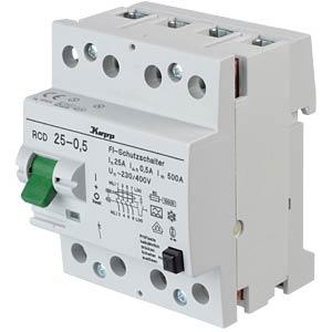 Fehlerstromschutz-Schalter, Typ A, 25 A, 500 mA KOPP 752545013