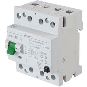 Fehlerstromschutz-Schalter, 40 A, 100 mA KOPP 754041016