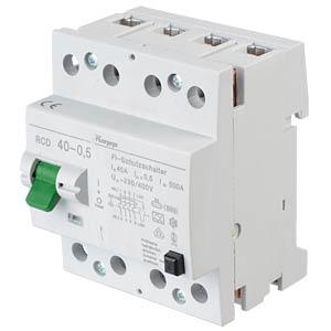 Fehlerstromschutz-Schalter, Typ A, 40 A, 500 mA KOPP 754045010