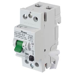 Fehlerstromschutz-Schalter, Typ A, 63 A, 300 mA KOPP 756323015