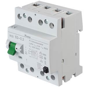 Fehlerstromschutz-Schalter, Typ A, 63 A, 300 mA KOPP 756343019