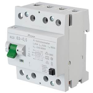Fehlerstromschutz-Schalter, Typ A, 63 A, 500 mA KOPP 756345011