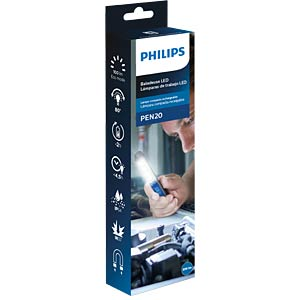 LED-Arbeitsleuchte PEN20, 200 lm, Akku, schwarz / blau PHILIPS LPL42X1