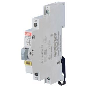 LED-Leuchttaster - 1 Schließer, 115 - 250 V AC, 16 A, LED gelb ABB E217-16-10E