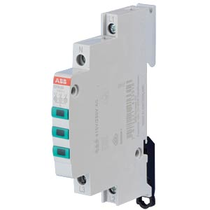 LED Indicator light - 3x, 230 - 415 V AC, Green ABB E219-3D