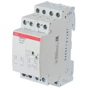 Installation Relay - 4 Changeover Contacts, 230 V ABB E259R004-230-LC