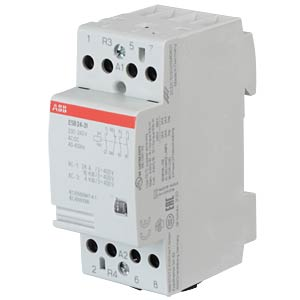 Installation Contactor - 3 NO Contacts + 1 NC Contacts, 220 - 24 ABB ESB24-31-230AC/DC