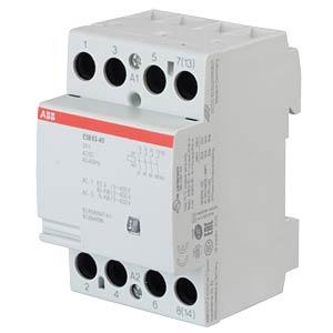 Installation Contactor - 4 NO contacts, 24 V ABB ESB63-40-24AC/DC