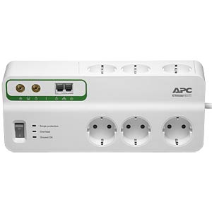 SurgeArrest 6 outlets with Phone and Coax APC PMH63VT-GR