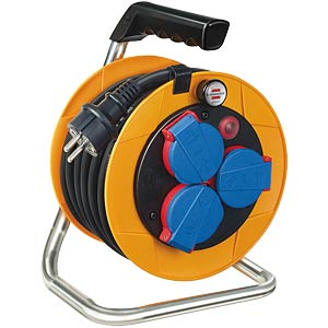 Cable reel, 10 m H07RN-F 3G1.5, for use on construction sites BRENNENSTUHL 1072500