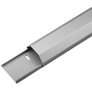 Aluminium-Kabelkanal 1,1m, 50 mm breit, alu GOOBAY 90668