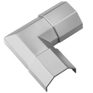 Cable conduit corner piece, 33 mm, silver GOOBAY 90780
