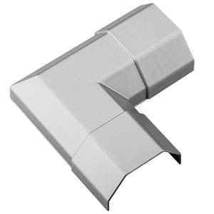 Cable conduit corner piece, 50 mm, alu colored GOOBAY 90783