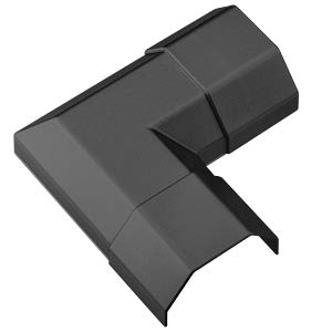 Cable conduit corner piece, 50 mm, black GOOBAY 90784