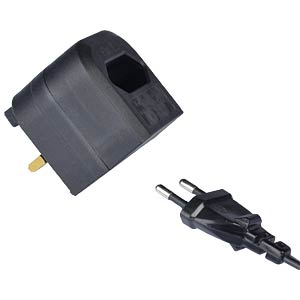 BCA-Converter: Euro Transformer to UK Converter Plug (BCA), blac POWERCONNECTIONS BCA BK