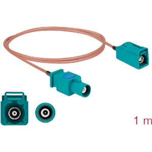DELOCK 90003 - HF-Kabel FAKRA Z Stecker > FAKRA Z Buchse 1,0 m