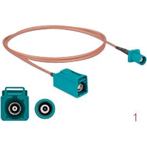 DELOCK 90005 - HF-Kabel FAKRA Z Stecker > FAKRA Z Buchse 1,0 m