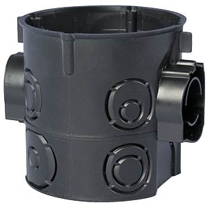 Flush-fitted device socket, deep, with screws F-TRONIC E 107M25 S