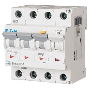 FI/LS-Schalter, Char. C, Typ A, 32 A, 30 mA, 3 + N EATON MRB4-32/3N/C/003-A