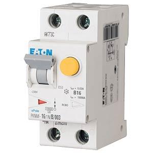 Aardlekschakelaar/stroomonderbreker - 16 A, 1 + N, Char - C EATON PKNM-16/1N/C/003-A-MW