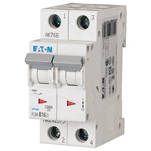 Leitungsschutzschalter, Char. C, 16 A, 2 polig EATON PLSM-C16/2-MW