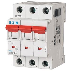 Leitungsschutzschalter, Char. C, 10 A, 3 polig EATON PLSM-C10/3-MW