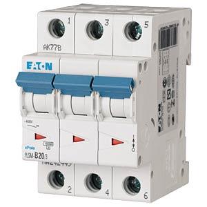 Leitungsschutzschalter, Char. C, 20 A, 3 polig EATON PLSM-C20/3-MW