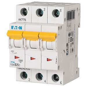 Aardlekschakelaar - 25 A, 3-polig, Char - C EATON PLSM-C25/3-MW