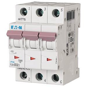 Aardlekschakelaar - 32 A, 3-polig, Char - C EATON PLSM-C32/3-MW