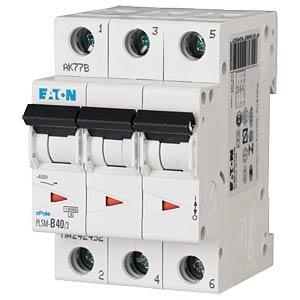 Leitungsschutzschalter, Char. C, 63 A, 3 polig EATON PLSM-C63/3-MW