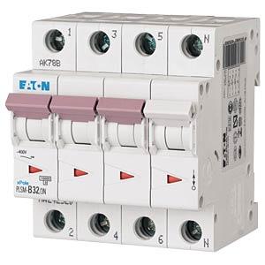 Leitungsschutzschalter, Char. C, 32 A, 3 + N EATON PLSM-C32/3N-MW