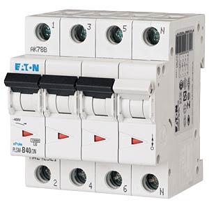 Leitungsschutzschalter, Char. C, 40 A, 3 + N EATON PLSM-C40/3N-MW