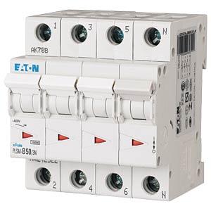 Aardlekschakelaar - 50 A, 3 + N, Char - C EATON PLSM-C50/3N-MW