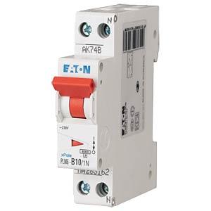 Leitungsschutzschalter, Char. C, 10 A, 1 + N EATON PLN6-C10/1N-MW