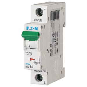 Leitungsschutzschalter, Char. C, 6 A, 1 polig EATON PLSM-C6-Q-MW