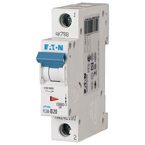 Leitungsschutzschalter, Char. C, 20 A, 1 polig EATON PLSM-C20-Q-MW