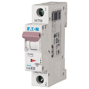 Leitungsschutzschalter, Char. C, 32 A, 1 polig EATON PLSM-C32-Q-MW