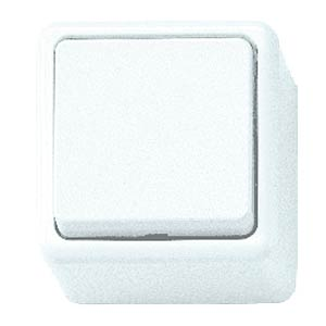 KOPP surface-mounted switch, arctic white, button KOPP 5143.0200.7