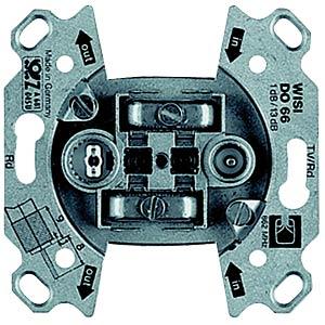 Unterputz-Antenneneinsatz, 2-fach BK, Durchg. BUSCH-JAEGER 0231-101