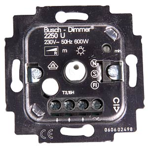Flush-fitted dimmer insert, phase control BUSCH-JAEGER 2250 U