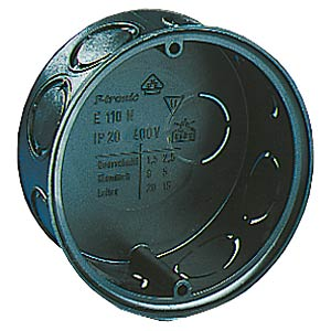 Flush-fitted junction box, 70 x 40 mm F-TRONIC E110